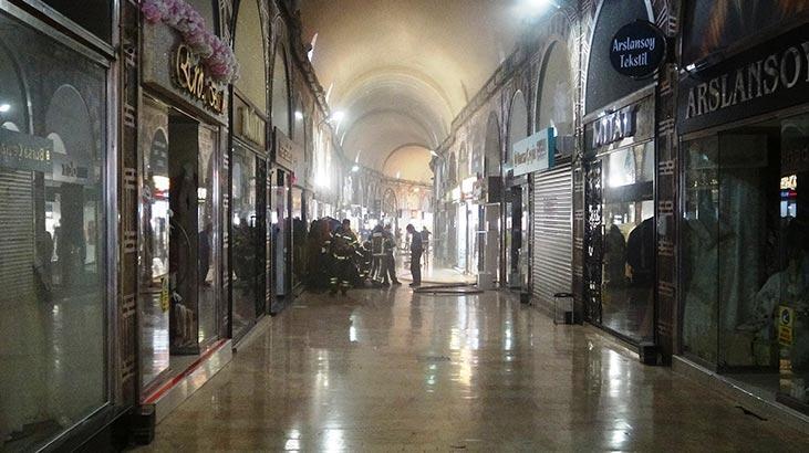Bursa'da tarihi çarşıda yangın! Esnafı kısa süreli panik yaşadı