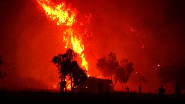 Çanakkale'de yangın söndürme çalışmaları aralıksız sürüyor
