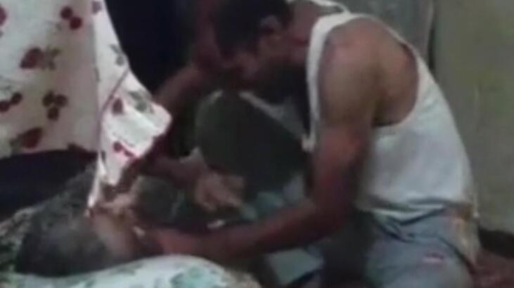 Elazığ'da yatalak anneye işkence kamerada