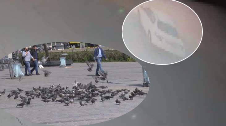Eminönü Meydanı'nda güvercinleri ezen sanığa 2 yıla kadar hapis istemi