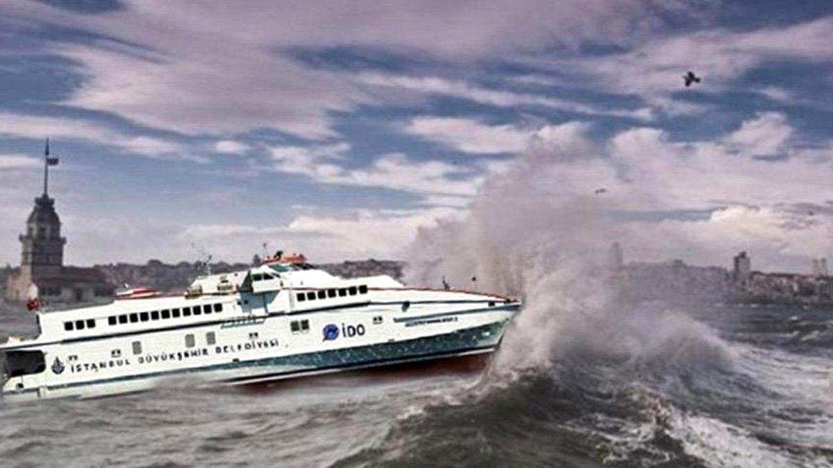 Marmara'daki olumsuz hava koşulları, İDO ve BUDO seferlerini iptal ettirdi