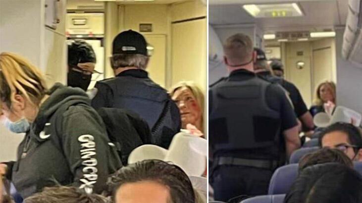 Uçuş görevlisine yumruk attı! Dişleri kırıldı...